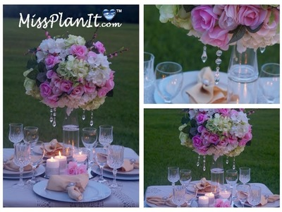 Tall Elegant Wedding Centerpiece. DIY. How To Create A Centerpiece Fit For A Princess