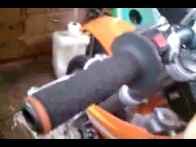 The best way to put Motorcycle grips on!