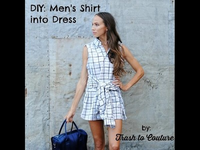 Trash to Couture: Upcycle a Men's Shirt into Rad Dress