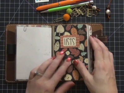 Traveler's Notebook Fall Set Up Series - Part 2 Set up and new Foxy Fix Wide