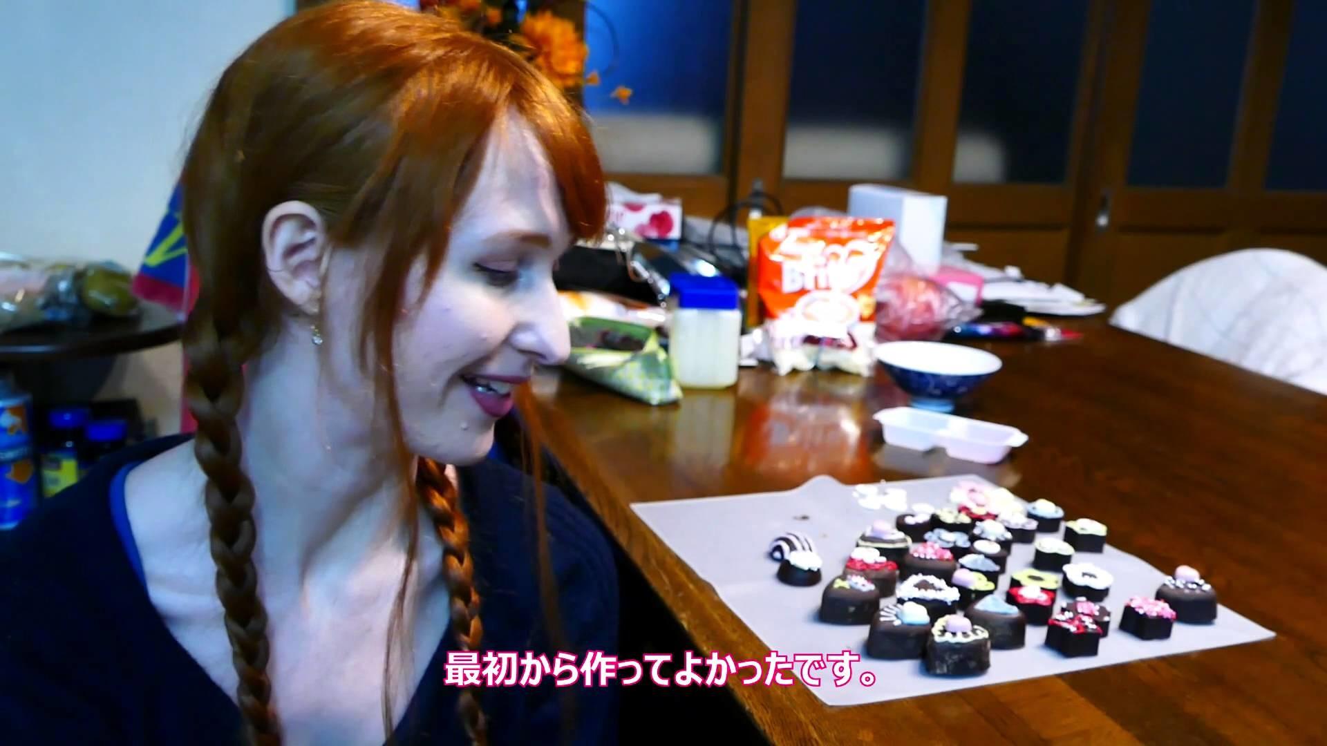 ♥Valentine's Day♥ Making chocolate for Jun! 初バレンタイン!
