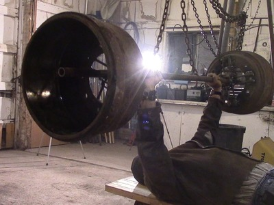 World's Greatest Barbell - Made from SEMI TRUCK!