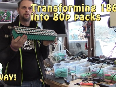 18650 - Assemble the packs HOW TO 80 Tesla powerwall!