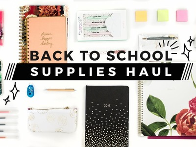 Back to School Supplies Haul in 60 Seconds + GIVEAWAY!