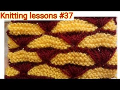 Beautiful    Knitting    Shells    Pattern   on   Garter Stitch    Background    Easy to make