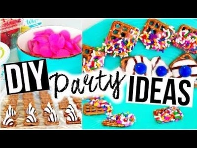 Birthday party decorations at home DIY PARTY IDEAS ♡ Snacks, Drinks & More!
