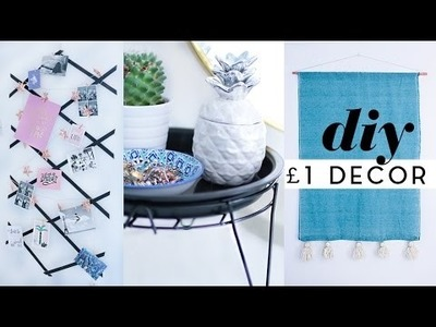 Budget DIY £1 Room Decor February 2017 | DIY Tapestry, Photo Grid & More