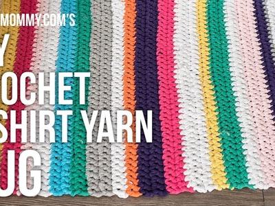 [DIY Channel] DIY Crochet T-shirt Yarn Rug Tutorial