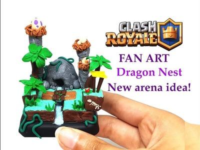 DIY Clash Royale FAN ART - Dragon Nest Arena - Polymer clay tutorial