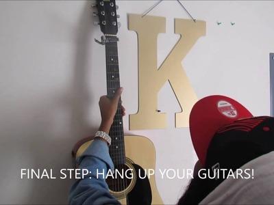 DIY Guitar Wall Mount