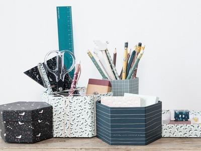 DIY : Make your own desk organiser by Søstrene Grene