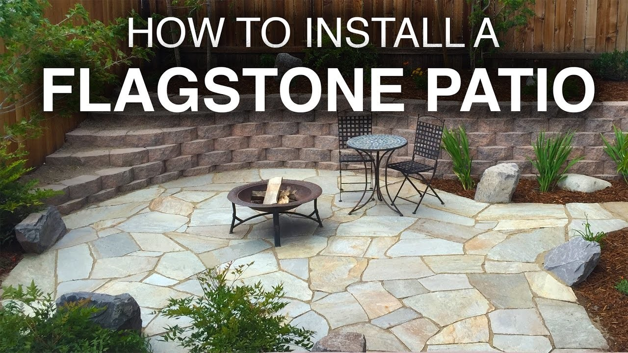 how to install a flagstone patio step by step. Black Bedroom Furniture Sets. Home Design Ideas
