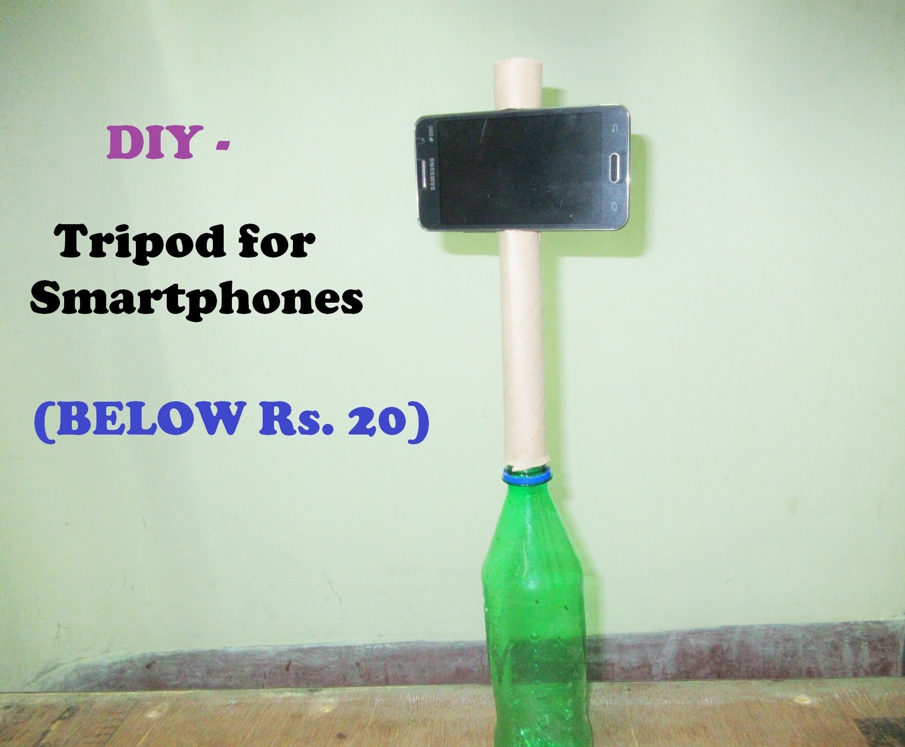 How to make a tripod at home   DIY-Tripod for smartphones   Below Rs. 20