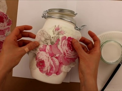 How to make decoupage jars   Fast & Easy Tutorial