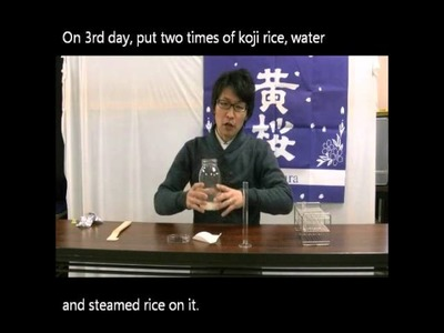 "How to make ""sake"" by micro brewing method"