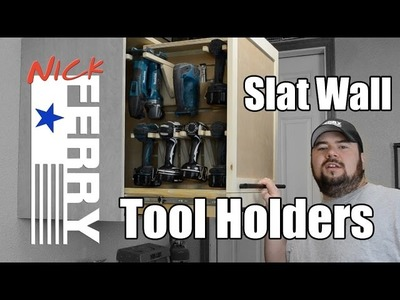 Ⓕ How To Make Tool Holders For Slat Walls (ep36)