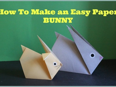 #HOWTO# make an easy  & CUTE paper Bunny Rabbit #Origami#