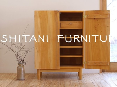 ISHITANI - Making a Ginkgo tree Cupboard - made from an old table top -
