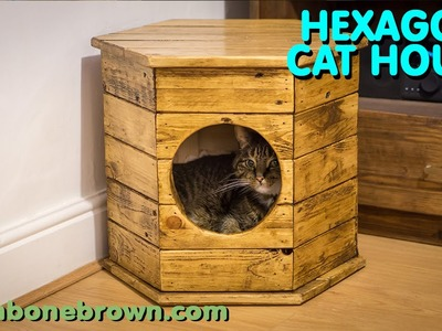 Making A Hexagon Cat House. Bed - Pallet Wood Project