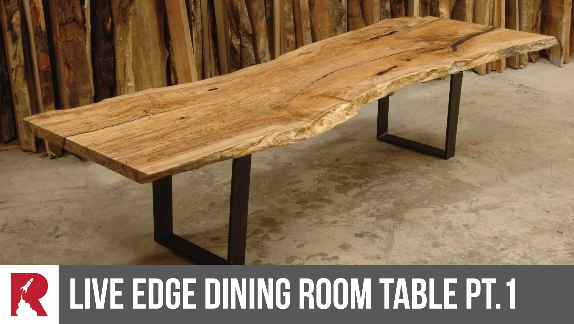 Making a Live Edge Dining Table Part 1 Rocket Design Furniture My Crafts a