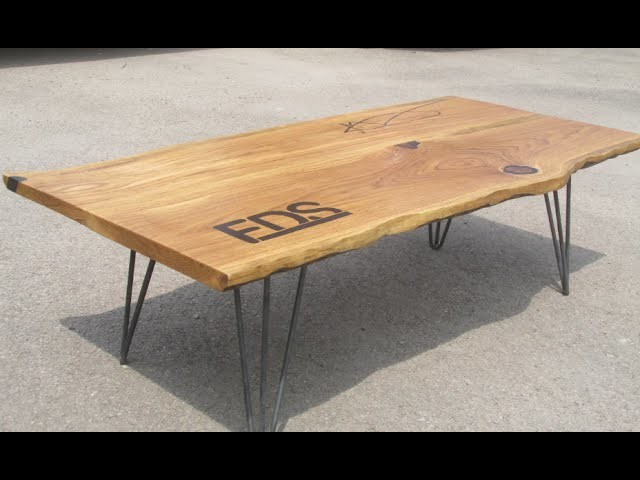 Natural Edge Oak And Black Epoxy FDS Coffee Table Home Build