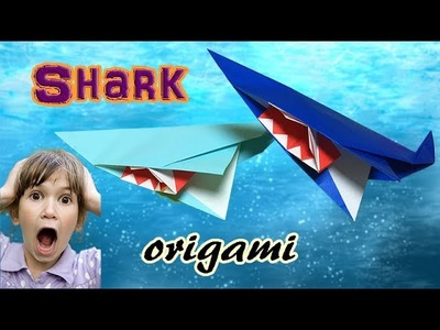 Origami Cool Stuff to Make Easy | How to make a paper Shark Step by Step | Cool DIY Crafts