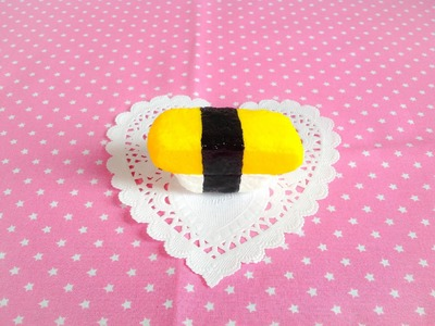 Squishy Tutorial: Yellow Egg Sushi ♡