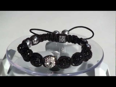 SWISSCO JEWELS NEW COLLECTION 2012 Macrame Disco Ball Iced out  BRACELETS DISCO BALL