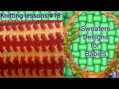 Two colours || beautiful ||  Knitting design || baby sweater design
