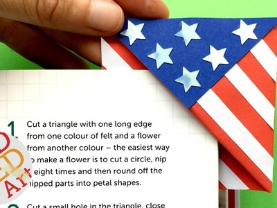 American Flag Bookmark Corner DIY - Stars and Stripes DIY