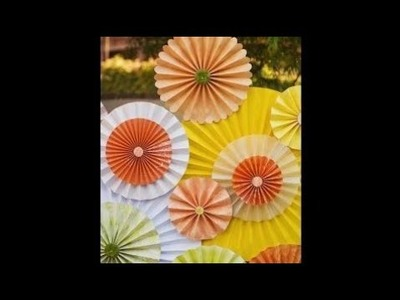 Birthday party paper crafts DIY: construction paper fan for birthday parties n weddings decoration