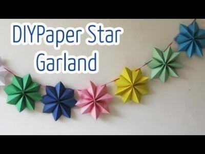 Birthday party paper crafts Diy crafts : Paper stars garland - Ana | DIY Crafts