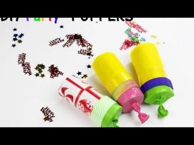 Birthday party paper crafts Pintober #6 DIY PARTY POPPERS! How to make your own party poppers