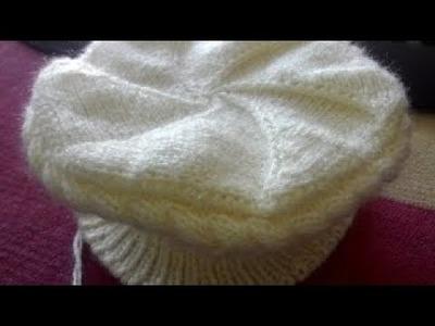 Braid Hat. Topi. Cap Design in hindi knitting (टोपी. बेल वाली )