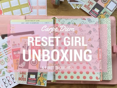 Carpe Diem Reset Girl Unboxing and Comparison to Erin Condren