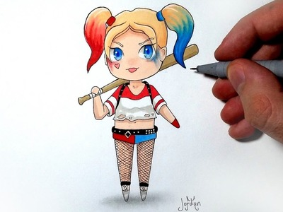Comment dessiner Harley Quinn version Chibi [Tutoriel]