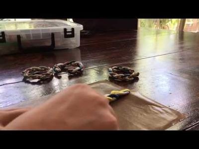 DIY Clay braided bracelet!!!!