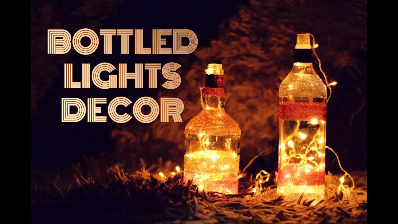 DIY Home Decor | Quick & Easy Bottle Lights