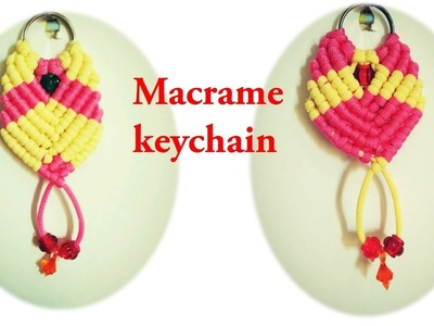 DIY how to make macrame keychain