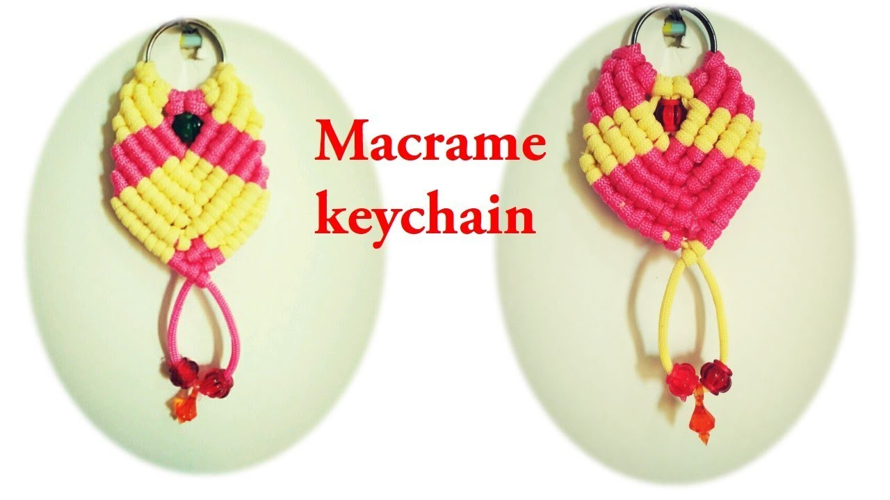 DIY how to make macrame keychain