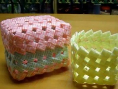 DIY Recycled Straw Basket Photo Video Guide 2