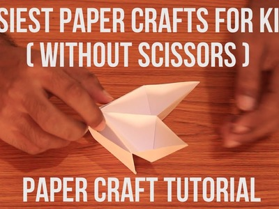 Easiest Paper Crafts for Kids ( Without Scissors )  Full HD