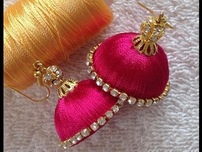 Easy DIY silk thread jhumka earrings