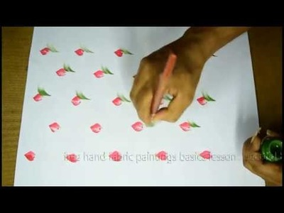 Free hand fabric painting basic lessons 4 | free hand painting tutorial Telugu,pictures,4K videos