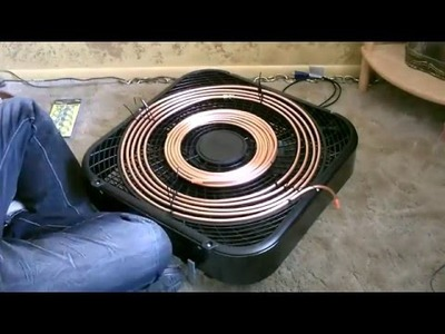 Homemade AC   The  Copper Coil  Air Conditioner   Simple  Box Fan  Conversion   Easy DIY