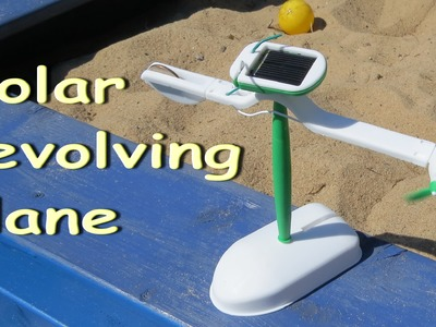 How to assemble the solar revolvig plane. Electric robots. Solar toys