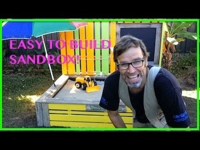 How to Build a Sandbox. Sandpit using Wooden Pallets.