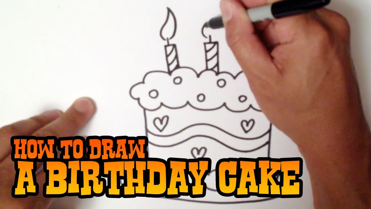 How To Draw A Birthday Cake Step By Step Video