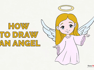 How to Draw an Angel in a Few Easy Steps: Drawing Tutorial for Kids and Beginners