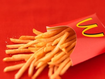 How To Make a Mcdonalds French Fry Cup   DIY